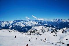 Hellingen van het ski?en toevlucht Stock Foto's