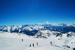 Hellingen van het ski?en toevlucht Stock Foto