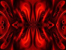 Hellish flower. Symmetrical abstraction in red and black Stock Photo