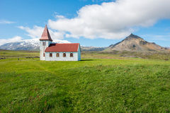 Hellnar church, Iceland Stock Photography
