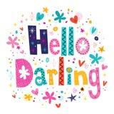 Hello älskling Royaltyfria Bilder