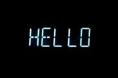 Hello. Led text digital display Royalty Free Stock Image