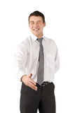 Hello!. Handsome young businessman stretches out his hand to introduce himself Stock Photography