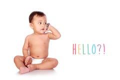 Hello?! Royalty Free Stock Photography