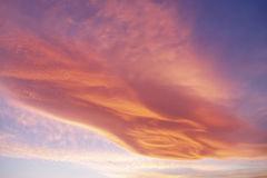 Hello, Aliens. Fantastic cloud formation in the sky above Sinj, Croatia Royalty Free Stock Photo