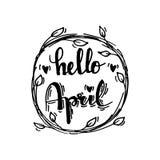 Hello april Stock Photos