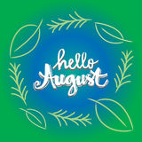 Hello august Stock Images