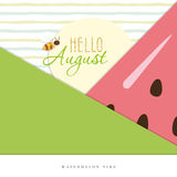 Hello august. Summer abstract background. Vector EPS10 royalty free illustration