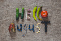 Hello august. Summer gifts, vegetables and fruits, fruits from the garden, seasons, fertile August royalty free stock images