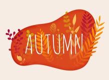 Hello autumn. Autumn leafs on the background. Flat design modern. Vector illustration concept vector illustration