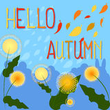 Hello autumn  background with place for text. Royalty Free Stock Photos