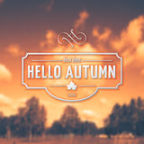 Hello Autumn badges logos and labels for any use Stock Photo