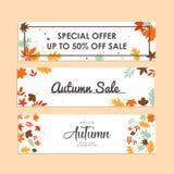 Hello autumn banner design inspiration stock image