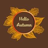Hello Autumn banner. Illustration royalty free illustration