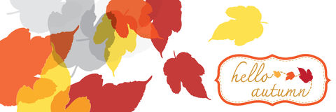 Hello autumn banner Royalty Free Stock Photo