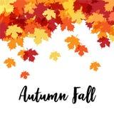 Hello Autumn Beautiful Decorative Background stock illustratie