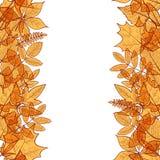 Hello autumn borders Royalty Free Stock Images