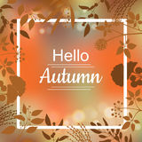 Hello Autumn card design Royalty Free Stock Photo