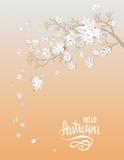 Hello autumn card Stock Image