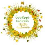 Hello autumn. Goodbye summer royalty free illustration