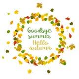 Hello autumn. Goodbye summer Royalty Free Stock Photo