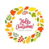 Hello, Autumn. Goodbye, Summer Royalty Free Stock Images