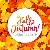 Hello, Autumn. Goodbye, Summer royalty free illustration