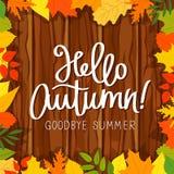 Hello, Autumn. Goodbye, Summer stock illustration