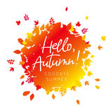 Hello, Autumn. Goodbye Summer. Vector Royalty Free Stock Photo