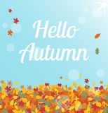 Hello autumn Stock Photography