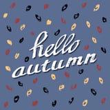 Hello Autumn. Stock Image