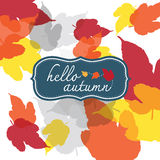 Hello autumn square Stock Photography