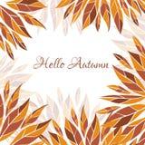 Hello autumn vector card Stock Photography