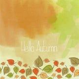 Hello autumn Royalty Free Stock Photos