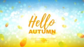 Hello autumn web banner Royalty Free Stock Photos