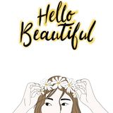 Hello beautiful royalty free illustration