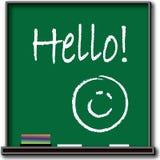 Hello on Blackboard Illustration Stock Photos