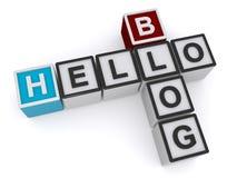 Hello blogg stock illustrationer