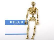 Hello and Bones Stock Photo