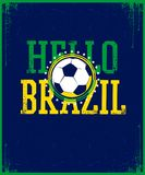 Hello Brazil poster. Royalty Free Stock Image