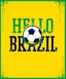 Hello Brazil poster. Royalty Free Stock Photo