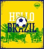 Hello Brazil poster. Stock Images