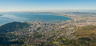 Hello Capetown South Africa. An aerial image of the City of Capetown in South Africa stock photography