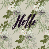 Hello card Royalty Free Stock Photography