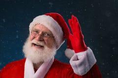 Hello!. Cheerful Santa Claus saying hello Royalty Free Stock Photo