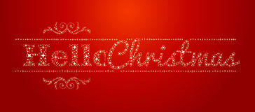 Hello Christmas stars Signal Stock Photo
