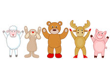 Hello cuddly animals Stock Images