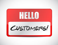 Hello customers tag illustration design Stock Photo