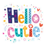 Hello cutie Stock Images