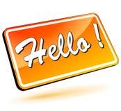 Hello 3d symbol Arkivfoton